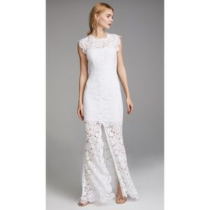 Rachel Zoe Estelle White Lace Cutout Maxi Dress